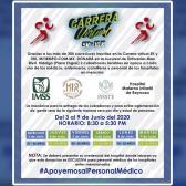 Carrera Max Wok & Run anuncia donación de cubrebocas a personal médico