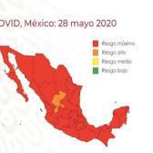 Presenta Salud Mapa de riesgo covid-19 para el país