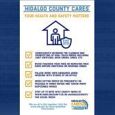 Condado Hidalgo exhorta a los residentes a seguir medidas sanitarias en el trabajo
