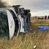 Vuelca autobús de FRENAAA en Tamaulipas; reportan 2 muertos y 23 heridos