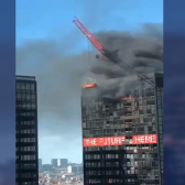 Se registra incendio en la torre World Trade Center en Bruselas, Bélgica