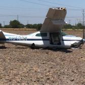 Se desploma avioneta en Reynosa; hay tres personas heridas