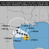 Depresión Tropical 22 con potencial para convertirse en huracán, alertan a las costas de Texas