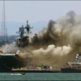 Incendio en un buque naval anclado en San Diego deja  21 lesionados