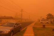 Ciudad australiana que se vuelve naranja por una tormenta de arena