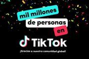TikTok ya alcanzó los mil millones de usuarios en todo el mundo