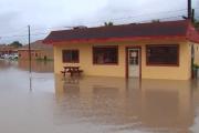 Lluvias provocan inundaciones en las calles de la ciudad de Río Grande
