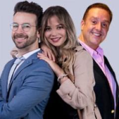 Daniel Bisogno, Sebastián de Villafranca y Diana Mota