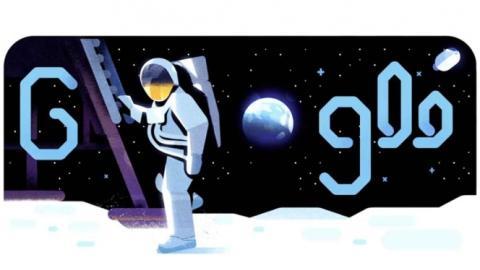 El nuevo doodle de Google recrea el viaje a la Luna