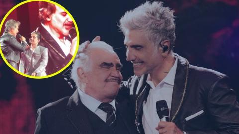 Alejandro Fernández rompe en llanto al recordar a su papá enfermo en pleno concierto