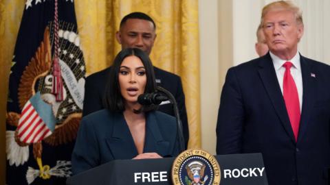 'Kimye' y Trump, juntos para buscar la liberación de A$AP Rocky