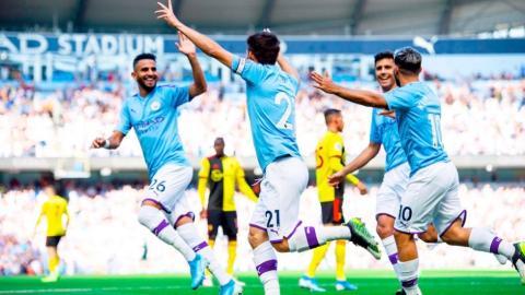 Tremenda goleada del Manchester City al Watford con 8 - 0