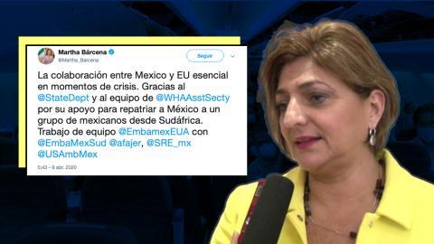 SRE agradece gestión de EU para repatriar a mexicanos desde Sudáfrica