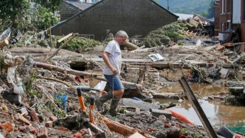 Aumentan a 41 los fallecidos por las inundaciones en Bélgica