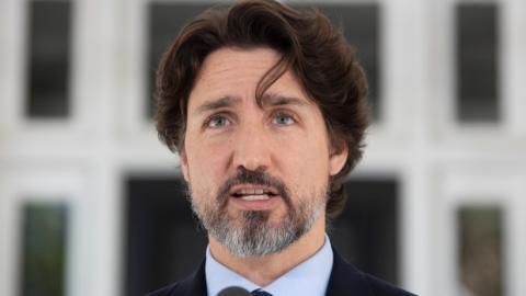 Trudeau mantiene 21 segundos de silencio ante acciones de Trump por protestas