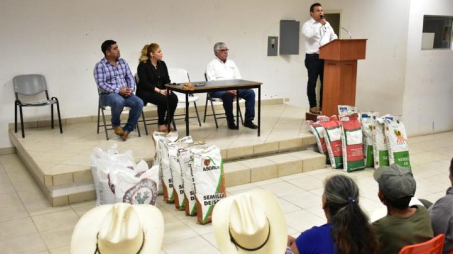 Productores del sector social se benefician con más de 121 tons. de semilla certificada