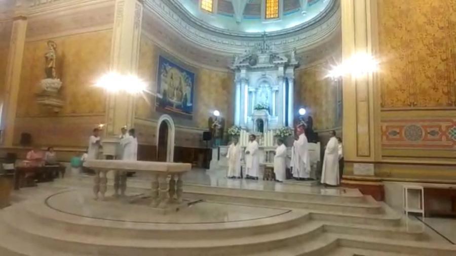 Oficia su primera misa como encargado de la Diócesis de Tampico, Monseñor Rogelio Cabrera