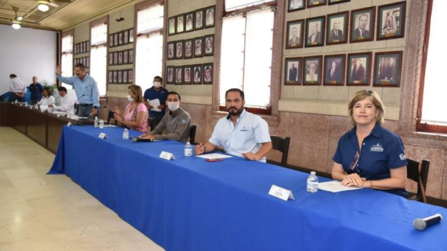 Ante contingencia sanitaria realizan sesión de cabildo a puerta cerrada en Tampico