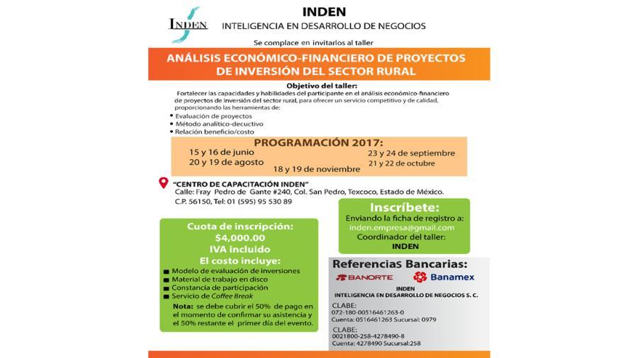 Invitan a talleres para proyectos de inversión del sector rural