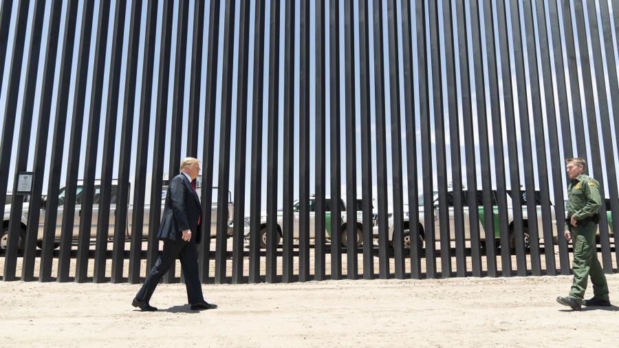 Comparte Trump imágenes del muro fronterizo con México