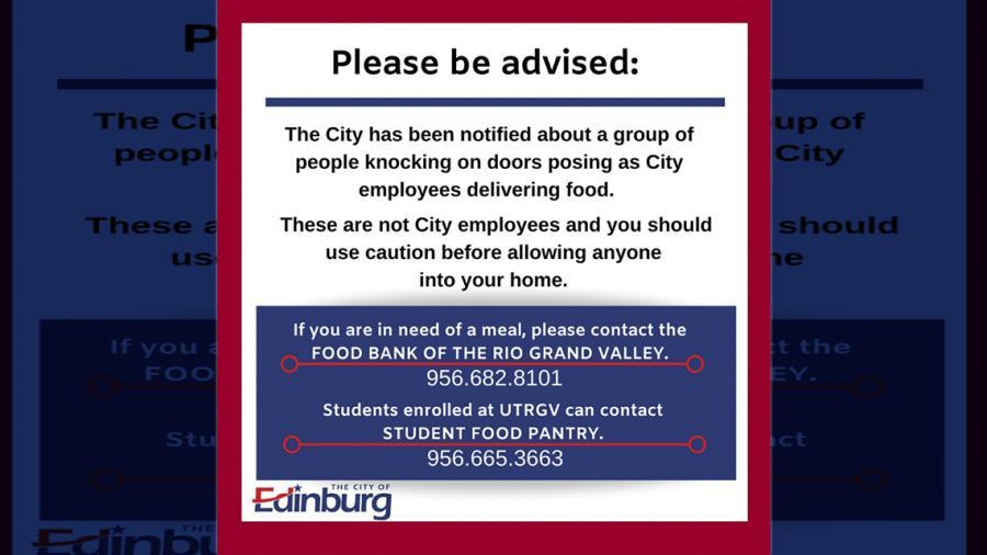 Alerta Edinburg por grupo de personas suplantando a personal del gobierno