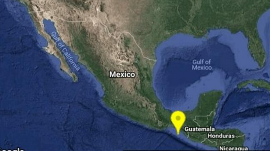 Registran sismo en Pijijiapan, Chiapas de 5.5 grados
