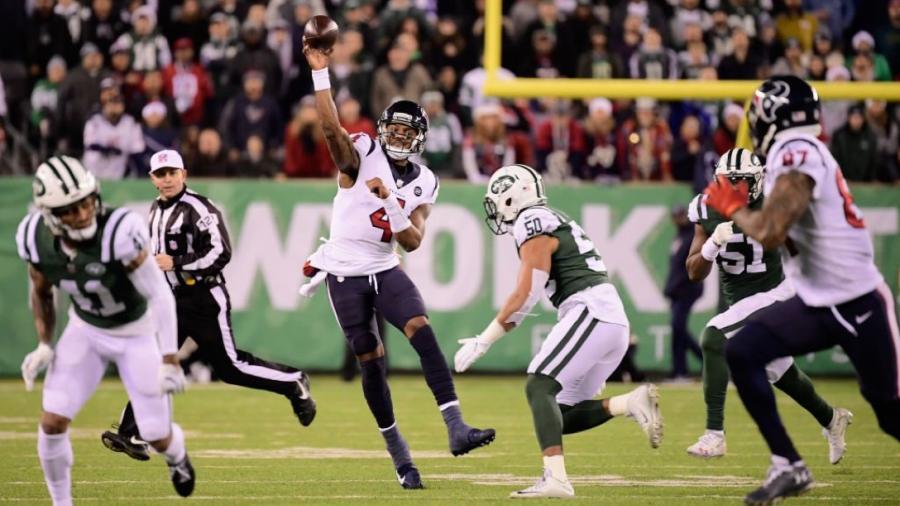 Texanos vencen 29-22 a Jets y aseguran play off con título Sur AFC