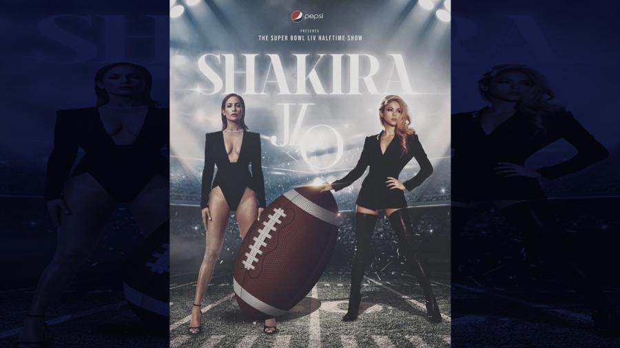 Critican posible póster de Shakira y JLo para el Super Bowl