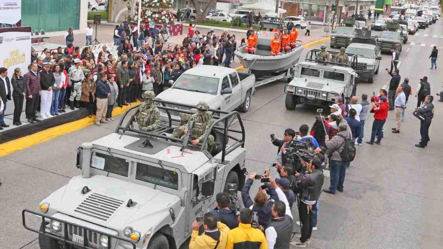 """Adrián Oseguera da banderazo al """"Operativo de Seguridad Decembrino 2019"""""""