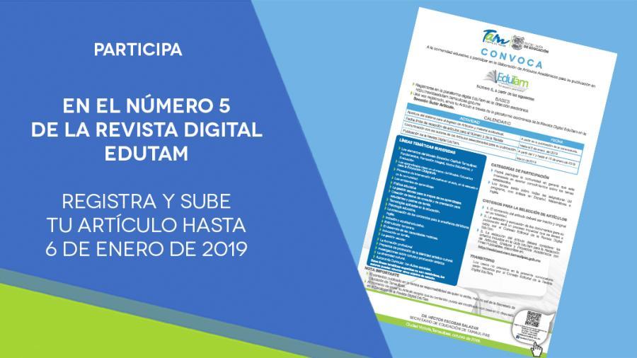 Participa en Revista Digital EduTam No.5