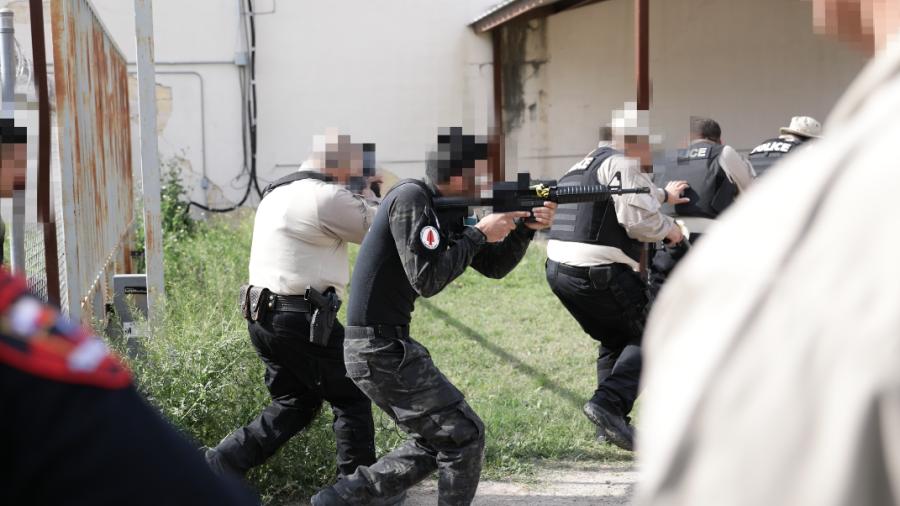 Agentes de operaciones especiales de Tamaulipas y Texas reciben capacitación conjunta