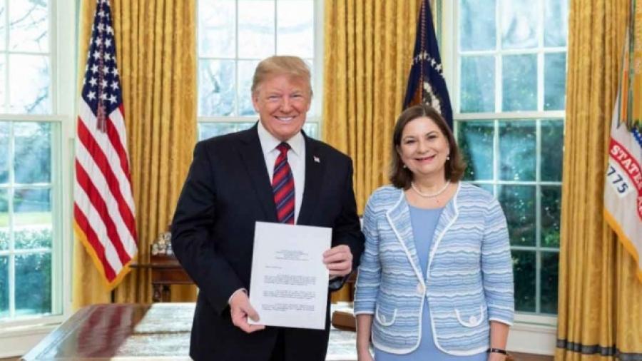 Martha Bárcena sostiene encuentro con Trump