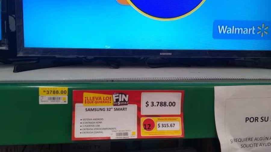 Por error Walmart vende televisión en 3.78 pesos