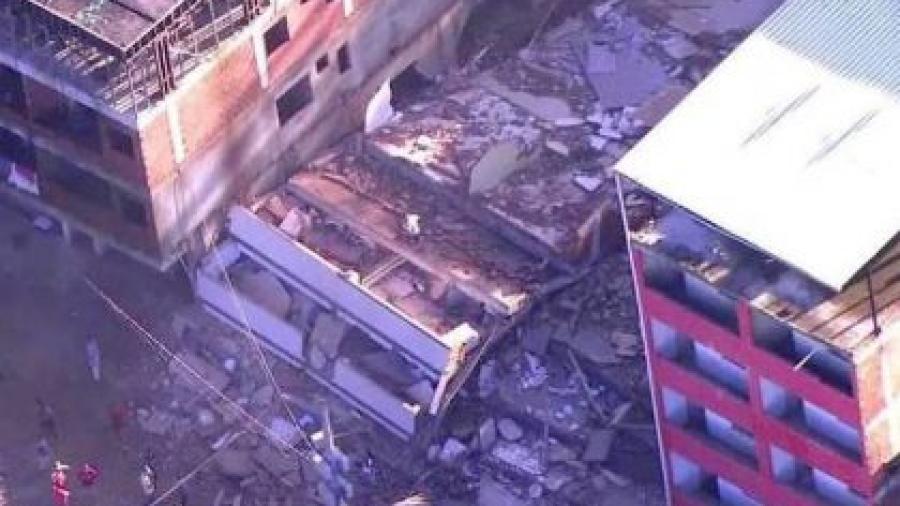 Al menos dos muertos por el derrumbe de dos edificios en Río de Janeiro