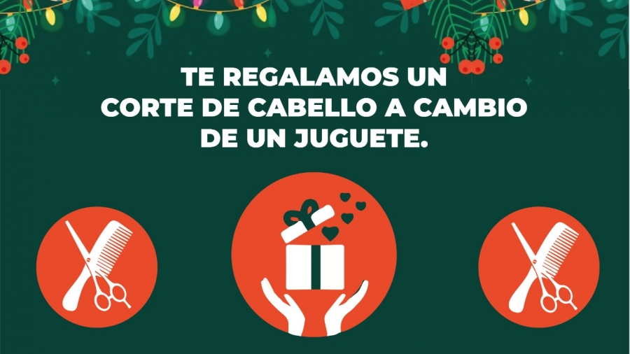 DIF Reynosa intercambia corte de cabello por un regalo para niño o niña