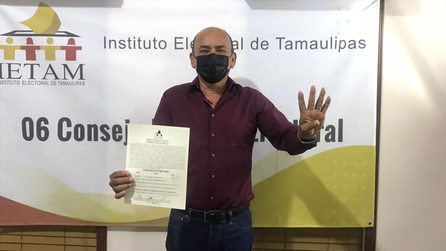 Recibe Ovidio García constancia como diputado electo del Distrito 6 de Reynosa por Morena