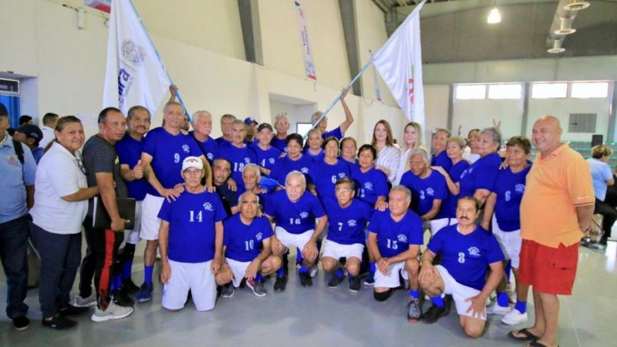 Asiste alcaldesa a Torneo Estatal de Cachibol del Adulto Activo 2019