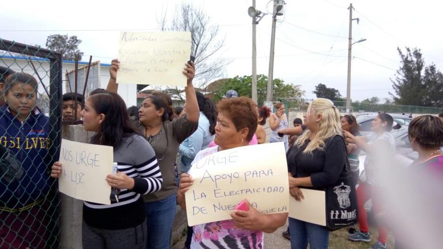 Escuela de Altamira sin energía eléctrica desde hace cuatro meses