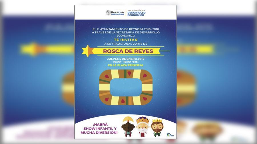 Invitan Ayuntamiento de Reynosa a partir la Rosca de Reyes