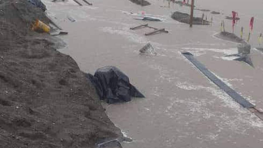 Reportan inundaciones en obra de refinería Dos Bocas, Tabasco