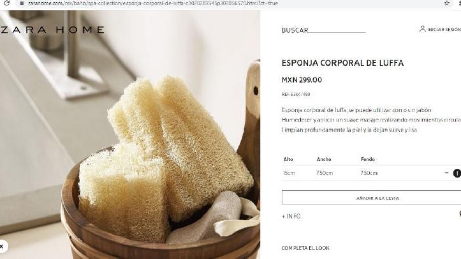 Zara pone a la venta esponjas de baño en casi 300 pesos