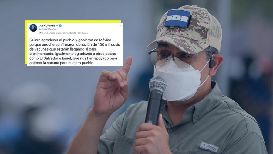 Anuncia Honduras que México les donará 100 mil vacunas anti COVID-19