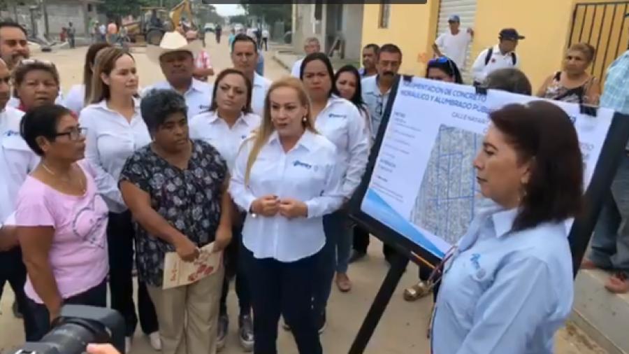 Supervisa alcaldesa obras en colonia Ampliación Primavera