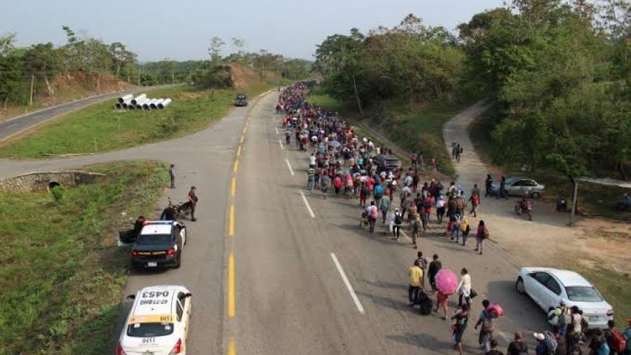 Migrantes arriban a municipios chiapanecos de Escuintla y Mapastepec
