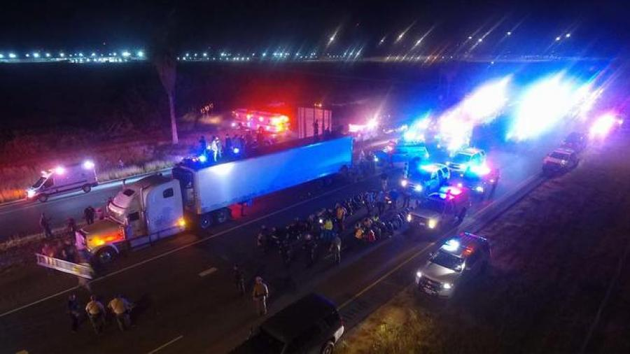 Hallan a 86 inmigrantes indocumentados dentro un camión en Raymondville