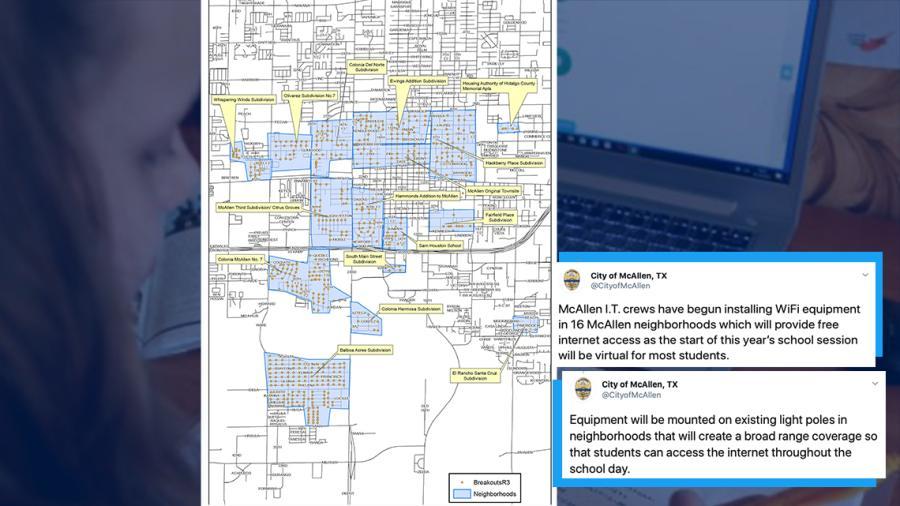 Instalan equipos de Wi-Fi gratuito en 16 vecindarios de McAllen