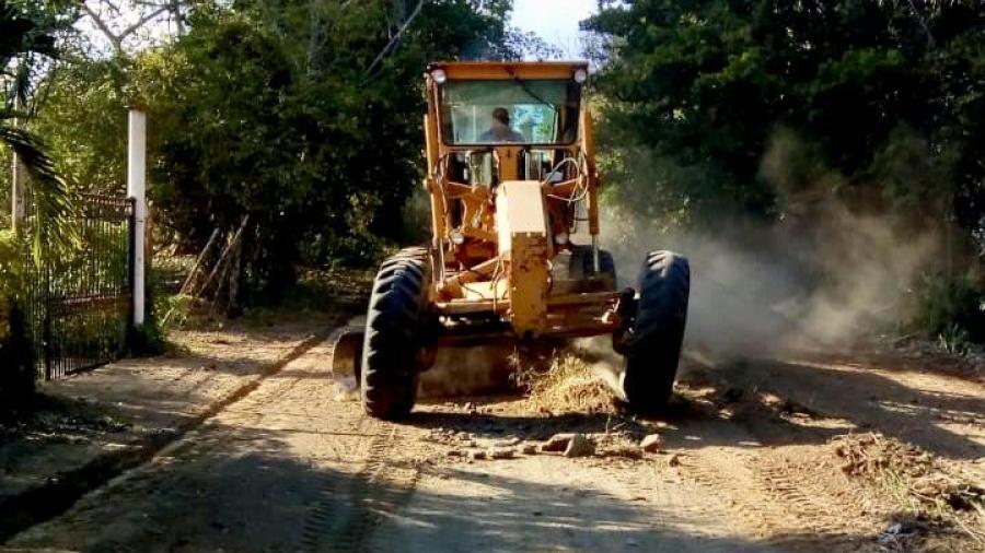 Restaura Gobierno de Altamira vialidades en ejido Ampliación San Antonio
