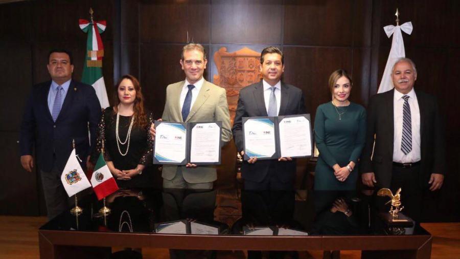 Firman convenio INE y Gobierno de Tamaulipas para identificación de desaparecidos