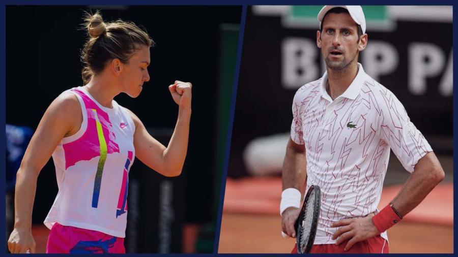 Djokovic y Halep avanzan a la final del Torneo de Roma