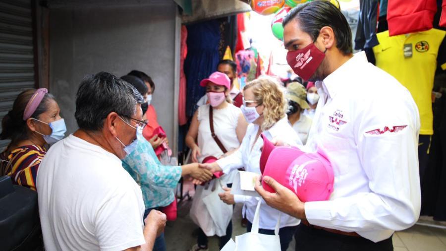 Votarán tianguistas de Jarachina por fórmula completa de Morena